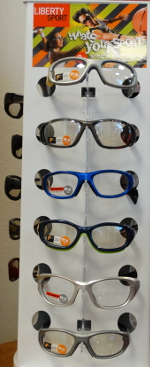 Mansfield Vision Center carries a large selection of styles in Protective Glasses Frames for all sports